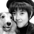 岸谷香と愛犬リキ91年頃に撮影された愛犬リキくんの2ショット写