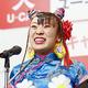 2020年「ユーキャン新語・流行語大賞」のトップテンに「フワちゃん」が選ばれ、スピーチするフワちゃん(C)共同通信社