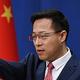 中国外務省の趙立堅副報道局長=2020年4月(AFP時事)
