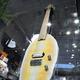 香ばしいにおいが漂ってきそうな「笹かまギター」=仙台市青葉区の山野楽器仙台店