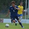 小川はブラジルを相手に一瞬の隙を突いてゴラッソをねじ込んだ。
