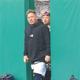 自主トレのために球団施設に現れた西武・山川、森=所沢市の球団施設(代表撮影)