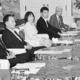 (写真)政府・与野党連絡協議会。左から4人目は田村智子政策委員長=4日、国会内