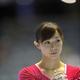 第66回体操全日本団体・種目別選手権が代々木第一体育館で開催された。 4日に行われた女子の種目別決勝で、西美寿紀は段違い平行棒に参加。  写真は、演技を披露した西美寿紀。 (写真:フォート・キシモト)  [2012年11月4日、代々木第一体育館/東京]