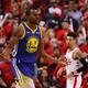 米プロバスケットボール(NBA)、ゴールデンステイト・ウォリアーズからメンフィス・グリズリーズへのトレードが発表されたアンドレ・イグドーラ(2019年6月2日撮影)。(c)Gregory Shamus/Getty Images/AFP