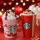まるで飲むクリスマスケーキ!スタバの新作「クリスマス ストロベリー ケーキ ミルク / フラペチーノ」発売