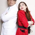 平野ノラさんと医学博士で医療ジャーナリストの森田豊先生 撮影