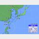 17日午後3時の台風5号の位置と進路予想。