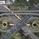 中国のネットユーザーが最近、重慶市にある二郎立体交差橋の形が上空から見るとフクロウにそっくりであることを発見した。