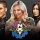 トリプルスレットNXT女子王座戦を行う(左から)リア・リプリー、シャーロット・フレアー、紫雷イオ(C)2020 WWE, Inc. All Rights Reserved.