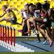 女子100mハードル・予選にて。  写真は、オーストラリアのサリー・ピアソン。  (撮影:フォート・キシモト)  [2013年8月16日、ルジニキ・スタジアム/モスクワ/ロシア]
