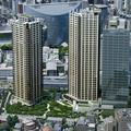 【画像】再開発のイメージCG。高層マンション2棟とオフィスビル