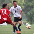 U-17日本代表の主軸ボランチ、MF横川旦陽(湘南U-18)は右SBとして