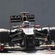 F1の第18戦、アブダビGPから。  写真は、今季初優勝を飾ったキミ・ライコネン。 (photo by DPPI/PHOTO KISHIMOTO)  [2012年11月1日、ヤス・マリーナ・サーキット/アブダビ]