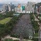 香港で18日に行われた大規模デモの様子(資料写真)=(聯合ニュース)