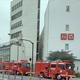現場の都営浅草線・中延駅に駆け付けた消防車両