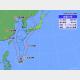 29日午前9時の台風9号の位置と進路予想。