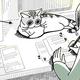 穏やかな心で作業を見守ってくれていると思ったら…猫は見るたびに色々変化してて癒される
