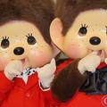 モンチッチくん(左)・モンチッチちゃん(右)