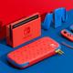 スイッチに特別な新色『マリオレッドxブルー』、背面も赤い本体にキャリングケースをセット
