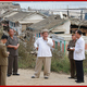 5日、台風9号により被害を受けた咸鏡南道を視察した金正恩氏(2020年9月6日付朝鮮中央通信)