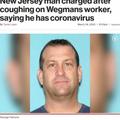 スーパーの店員に近づき咳をした50歳の男(画像は『New York Pos