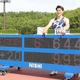 布勢スプリント 男子100メートル決勝、9秒95の日本新記録で優勝した山県亮太(代表撮影)