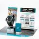 ランニングをサポートする腕時計の「G−SHOCK(ショック)」と腰につけるセンサー(カシオ計算機提供)