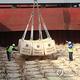 2010年10月、北朝鮮に送るため韓国の群山港で船積みされたコメ。韓国は水害を受けた北朝鮮住民のためにコメを無償支援した(資料写真)=(聯合ニュース)