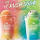 サーティワンアイスクリーム「ザ・クラッシュソーダ」(ピンクグレープフルーツ&レモネード/メロン&ブルー)