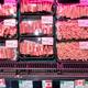 北京で18日、スーパーマーケットに陳列されるカナダ産の豚肉=AP