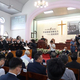 李登輝元総統の追悼礼拝の様子=9月16日、高雄市