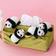 フェリシモ、赤ちゃんパンダが自由に過ごす姿を再現したボックスティッシュカバーを発売