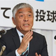埼玉県知事選への出馬を表明した青島健太氏=18日、さいたま市内のホテル(尾崎修二撮影)