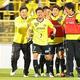 決勝点を挙げた大谷に集まる柏の選手たち。G大阪戦ではチームに一体感があった。写真:塚本凜平(サッカーダイジェスト写真部)