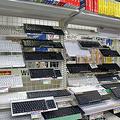ツクモパソコン本店のキーボードコーナー
