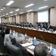 防衛予算などについて議論した財政制度等審議会の分科会の歳出改革部会=23日午前、東京・霞が関の財務省