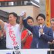 参院選告示日の7月4日、激戦区である秋田選挙区内の3か所で街頭演説、自民党公認で公明推薦の現職・中泉松司候補への支持を訴えた小泉進次郎・厚生労働部会長