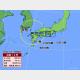 17日午後5時の台風14号の推定位置と24時間進路予想。