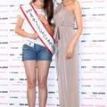 優勝したトラウデン直美さん、応援アンバサダーを務めるモデルの
