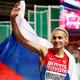 女子400m・決勝にて。  写真は、銅メダルを獲得したアントニーナ・クリヴォシャプカ(ロシア)。  (撮影:フォート・キシモト)  [2013年8月12日、ルジニキ・スタジアム/モスクワ/ロシア]