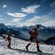 2020年冬季ユース五輪、山岳スキー女子個人に臨む選手(2020年1月10日撮影)。(c)Jeff PACHOUD / AFP