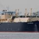 LNG船は、蒸発ガスが少なく、三菱重工業や川崎重工業が得意とする「モス型(独立球形タンク方式)」が主流だったが、今はタンクの内部を薄くてしわのあるステンレス鋼で覆う「メンブレン型」(写真)も性能が上がってきており、韓国勢の存在感が一気に増したという Photo:REUTERS/AFLO