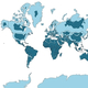 世界地図に「歪み」球体の平面表現の難しさを可視化した画像が話題
