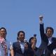 自民党公認の中泉松司候補の応援演説を行う安倍首相