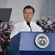 「光復節」の式典で演説する文在寅大統領