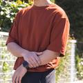 ユニクロU エアリズムコットンオーバーサイズTシャツ(5分袖)