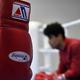 ボクシンググローブ(2016年8月2日撮影、資料写真)。(c)AFP=時事/AFPBB News