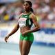 女子走幅跳・決勝にて。  写真は、銀メダルを獲得したブレッシング・オカグバレ(ナイジェリア)。  (撮影:フォート・キシモト)  [2013年8月11日、ルジニキ・スタジアム/モスクワ/ロシア]