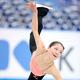 フィギュアスケートのグランプリ(GP)シリーズ、第6戦「NHK杯」から。  写真は開幕前日。公式練習にのぞむ、鈴木明子。 (撮影:フォート・キシモト)  [2012年11月22日、宮城・セキスイハイムスーパーアリーナ]